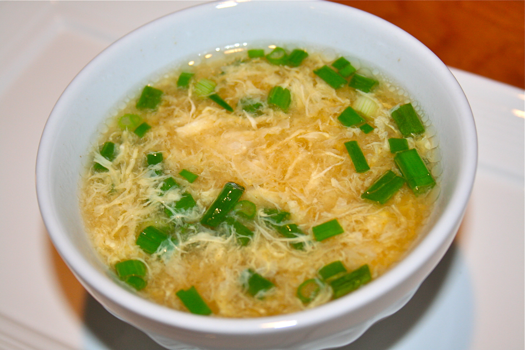 Chinese Egg Drop Soup Once the soup is boiling,